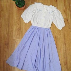 Vintage 50s Cotton Full Skirt Day Dress